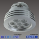 Blueline LED 3 ring spot alu 7x2watt Cree P4-Q2
