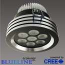 Blueline LED 3 ring spot alu-zwart 7x2watt Cree P4-Q2